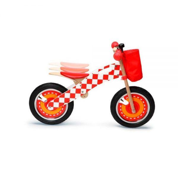 Bicicleta sin pedales roja formula 1