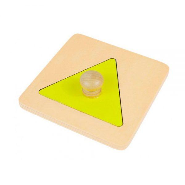 Puzzle triángulo Montessori