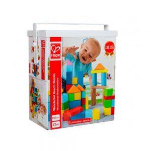 101 bloques de madera de colores