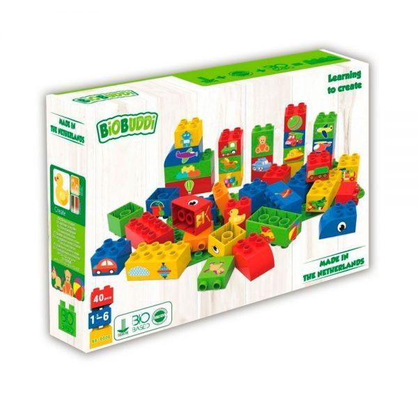 40 eco bloques arcoíris
