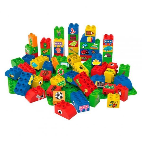 60 eco bloques arcoíris