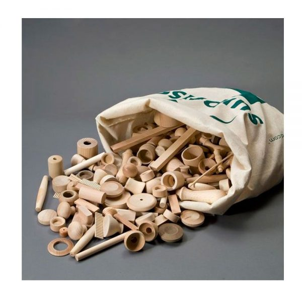 Bolsa piezas de madera