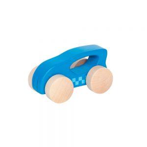 Coche de madera azul