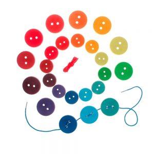 Juego de botones arcoíris
