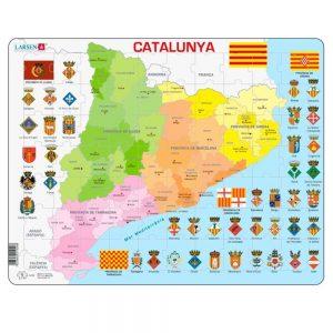 Puzzle mapa Cataluña política
