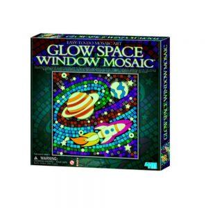 Mosaico espacio brilla oscuridad