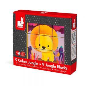 Puzzle cubos animales de la selva