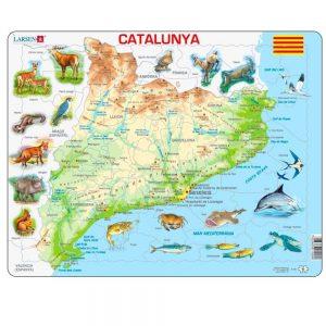 Puzzle mapa Cataluña físico