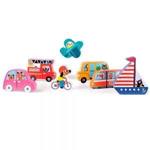 Puzzle vehículos