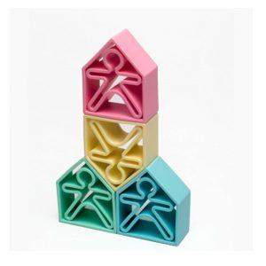 12 piezas de silicona para jugar tonos pastel