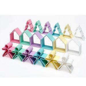 18 piezas de silicona para jugar tonos pastel