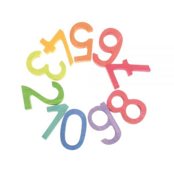 Set de números arcoíris