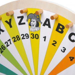 Ruleta con números y letras