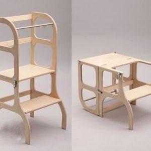 Torre de aprendizaje 2 en 1 madera