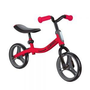 Globber go bike roja bicicleta de equilibrio sin pedales