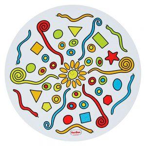 Mandala translucida gigante para jugar con plastilina encima