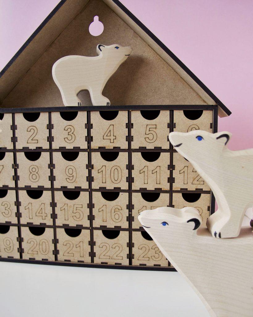 Calendario de adviento con osos polares