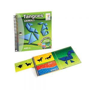 Juego de tangram con piezas imantadas en libro