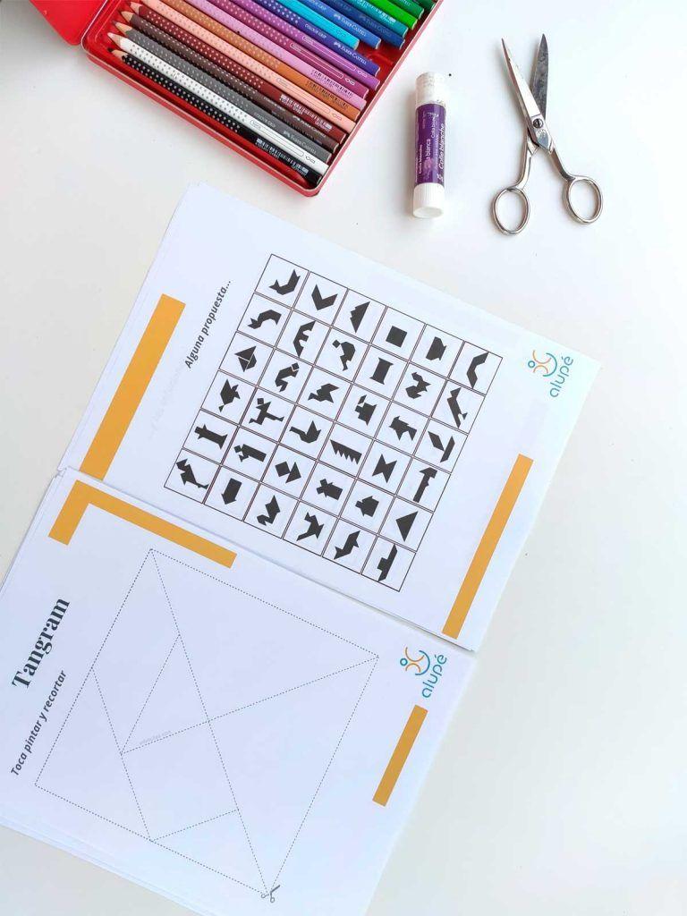 Imprimible tangram gratuito yo me quedo en casa