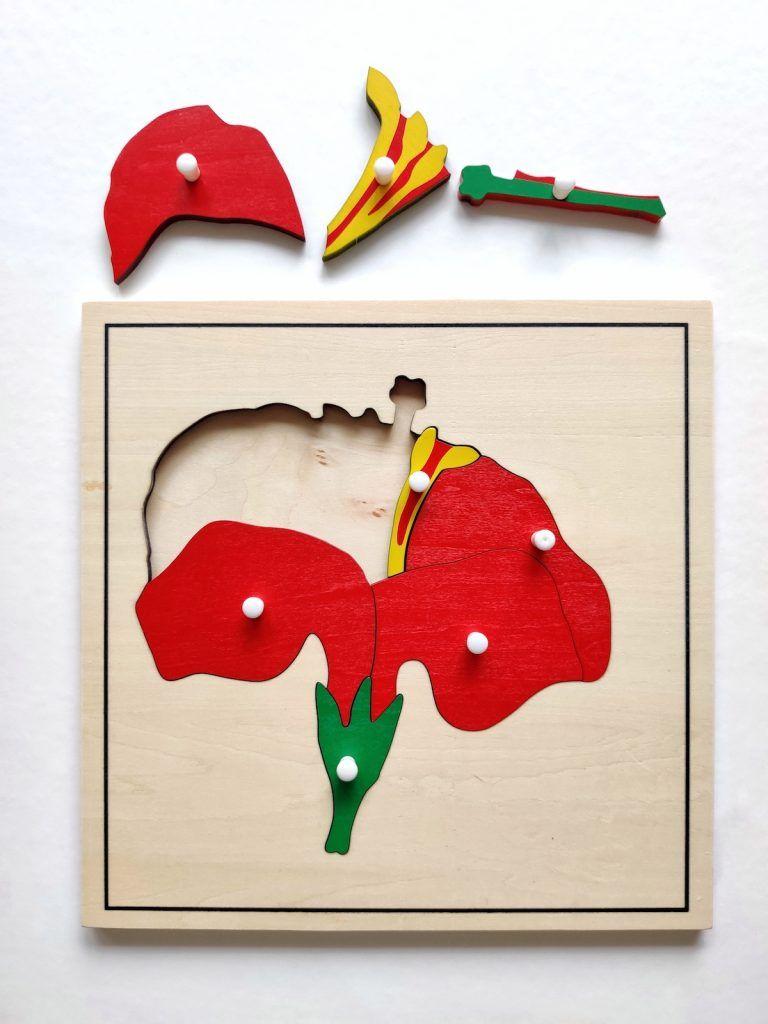 puzzle Montessori flor