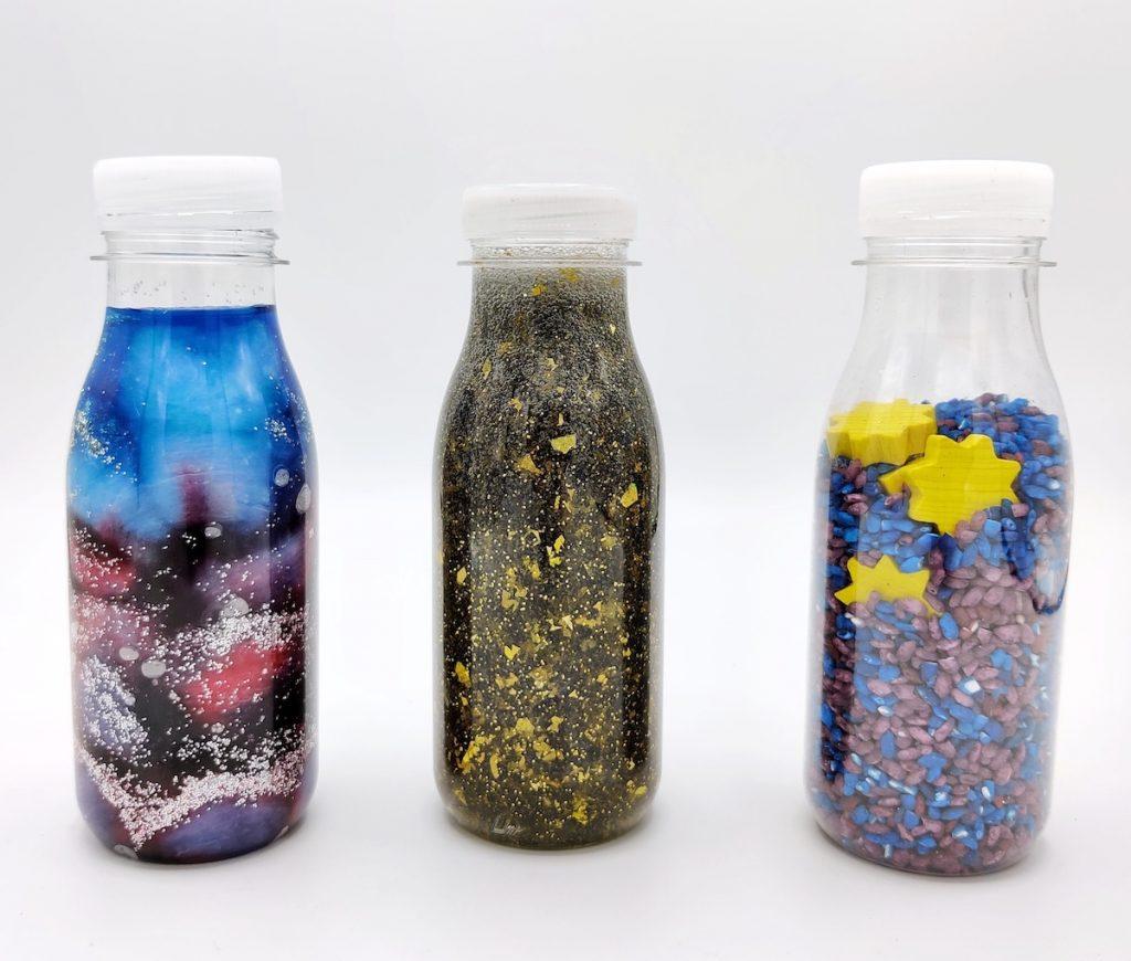 Botellas sensoriales espacio