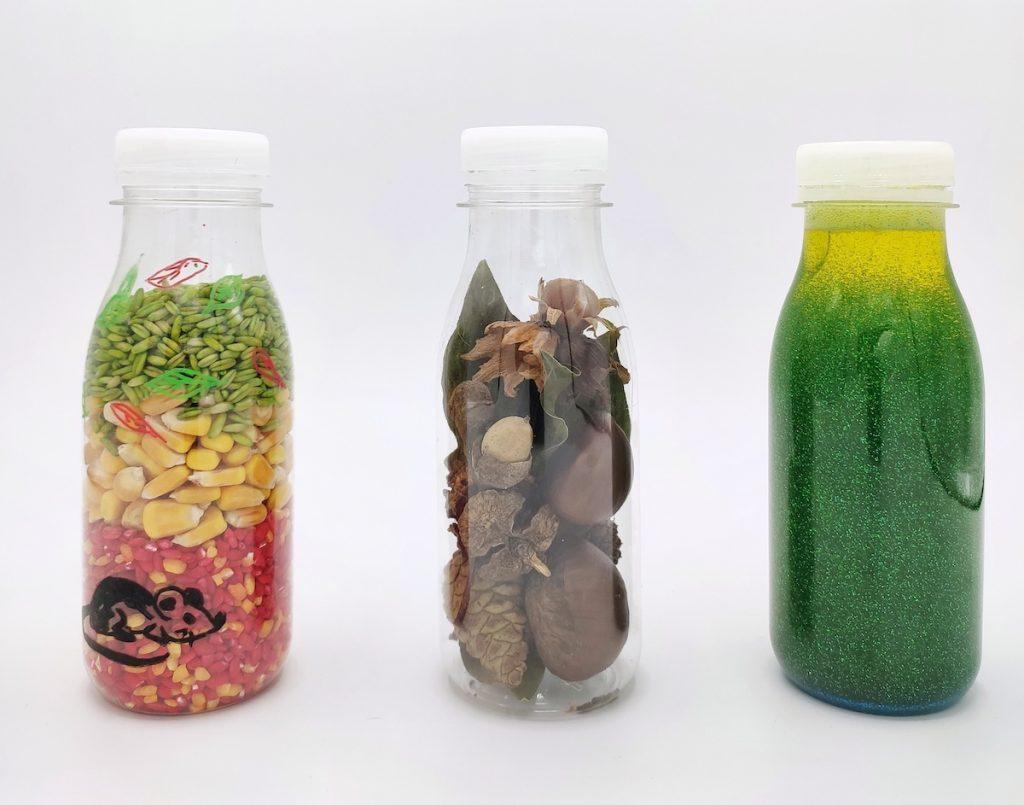 Botellas sensoriales otoño