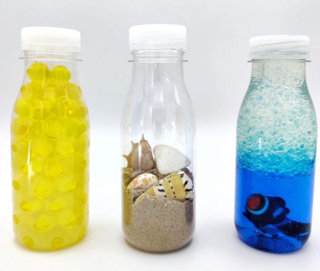 Botellas sensoriales verano