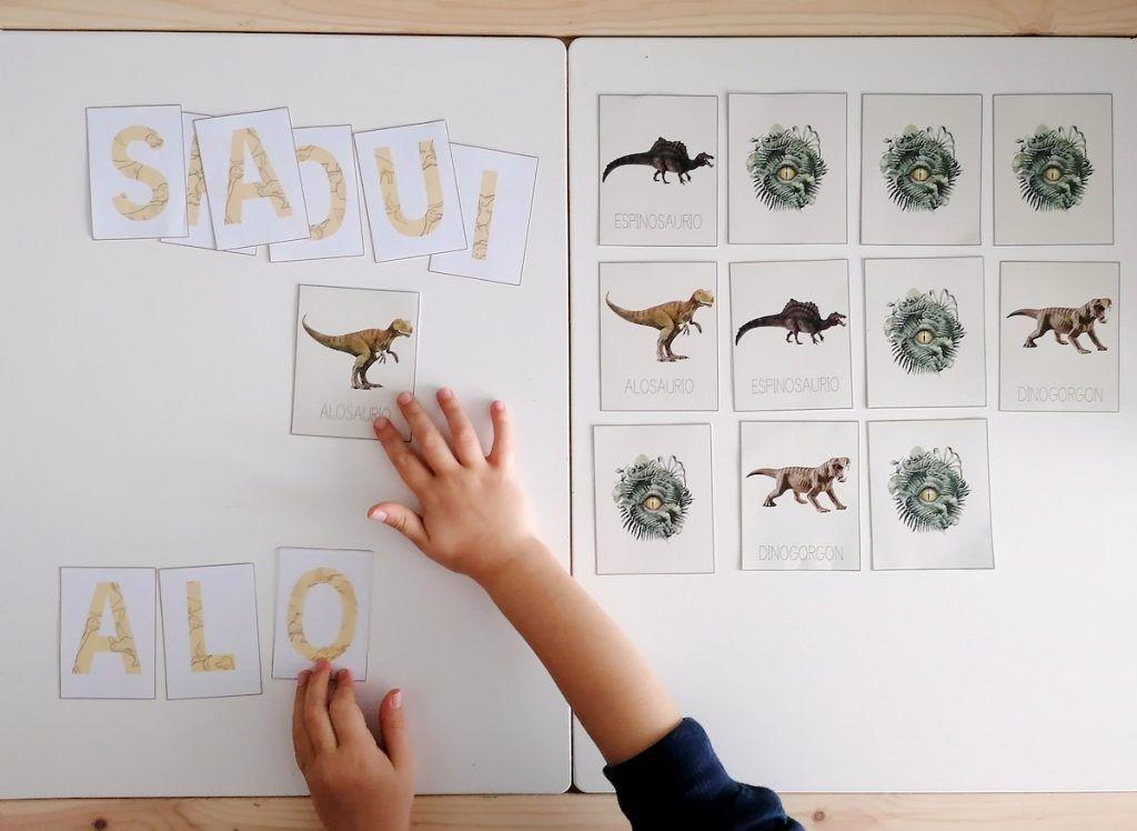 dinosaurios - lectoescritura