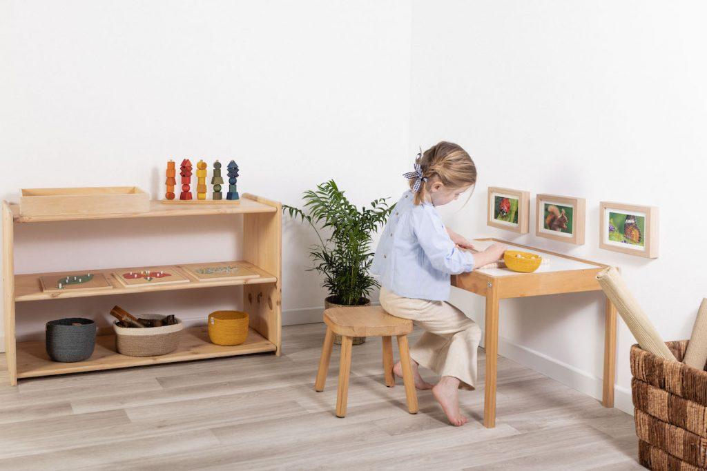espacio preparado mesa