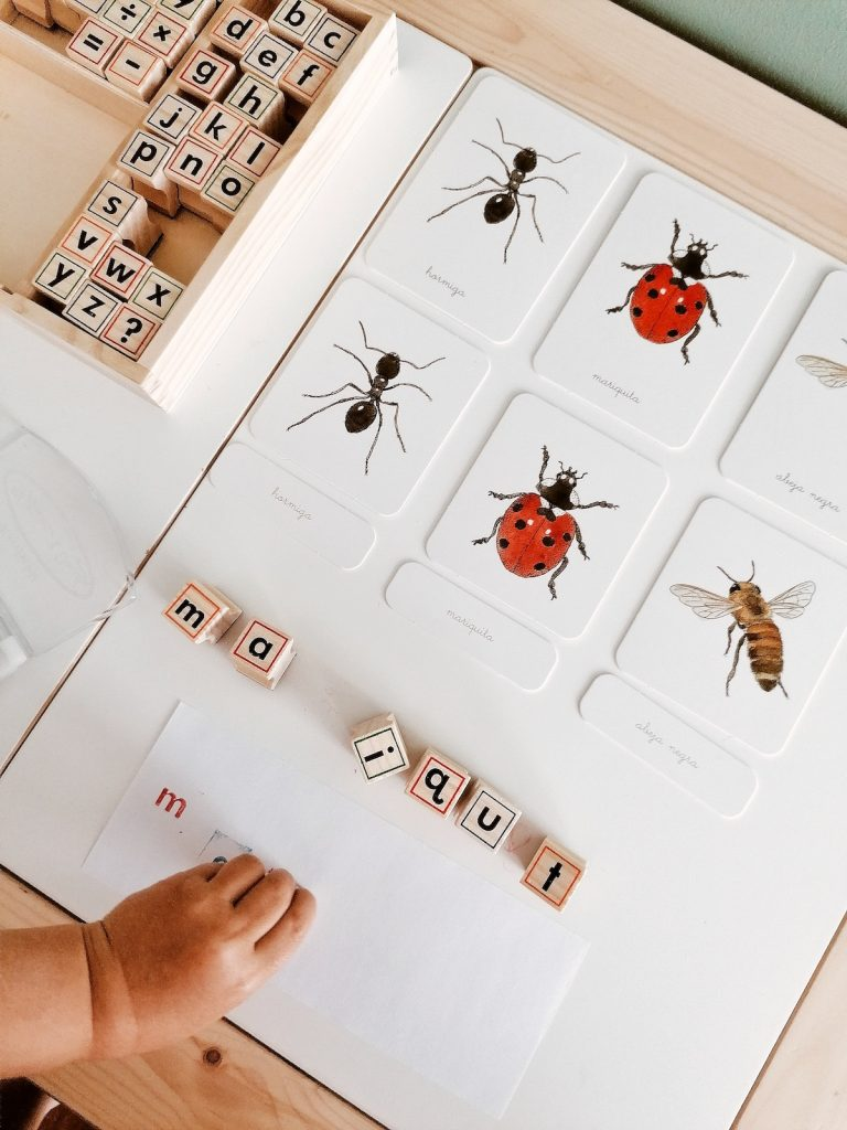 Lectoescritura mis primeras palabras Montessori