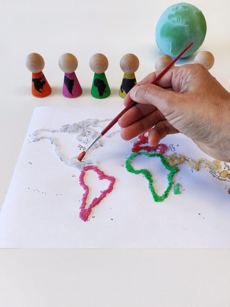 Continentes - mapamundi sal