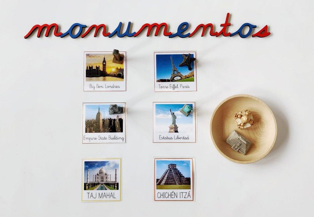 Continentes - monumentos del mundo