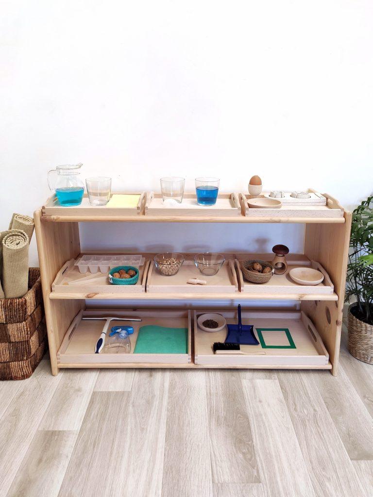 Bandejas de vida práctica - espacio preparado