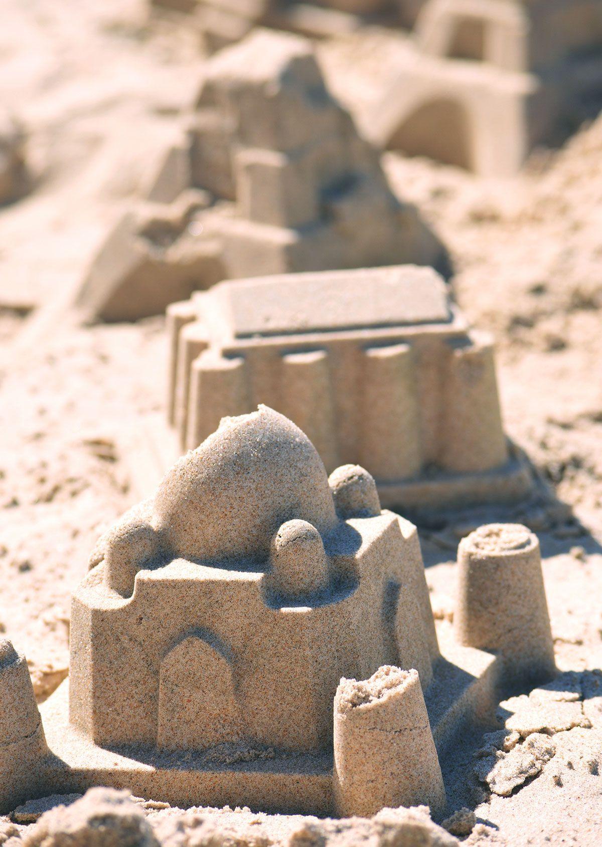Moldes de edificios para la playa
